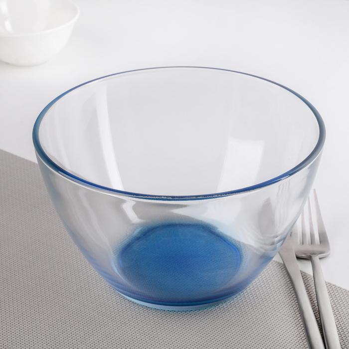 "Салатник 1500 мл ""Джем"", цвет голубой"