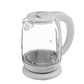 Чайник электрический Kitfort KT-640-3, стекло, 1.7 л, 2200 Вт, подсветка, серый