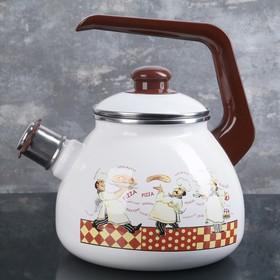 Чайник со свистком «Итальянская кухня» 3 л,эмалированная крышка