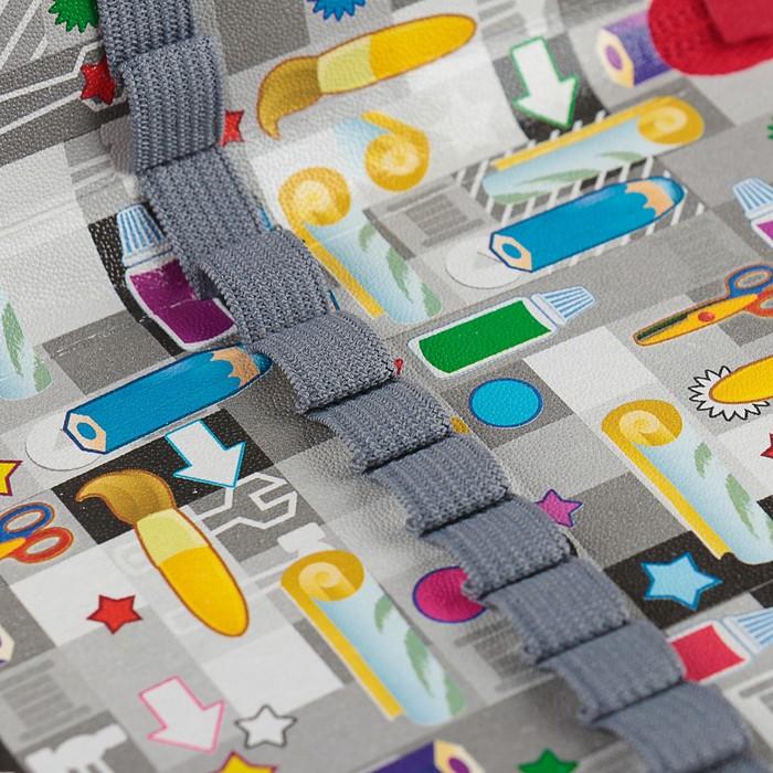 Пенал 2 секции «Богатырь дорог», 120 х 205 мм, эффект металлик, 3D объёмный рисунок - фото 448841248