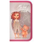 Пенал 1 секция «Девочка с мишкой», для девочки,115 х 205, ламинированный картон «Канцбург» 30П26