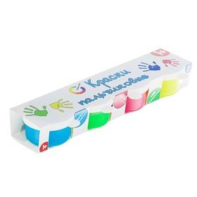 Краски пальчиковые, набор 4 цвета x 30 мл, «Азбука цвета», флуоресцентные