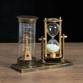 """Часы песочные """"Достопримечательности Франции"""", с подсветкой, 15.5х6.5х16 см, микс в Донецке"""