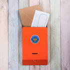 Ящик почтовый «Почта», без замка (с петлёй), оранжевый