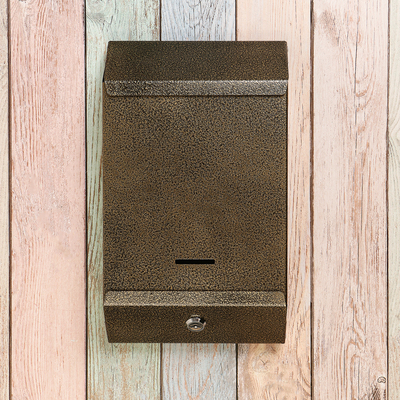 Ящик почтовый с замком, вертикальный, «Почта», бронзовый