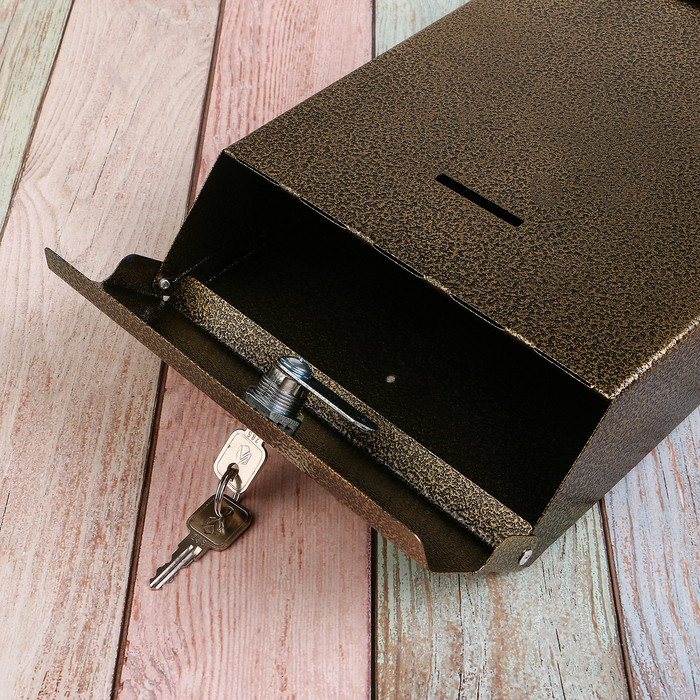 Ящик почтовый «Почта», с замком, цвет бронзовый