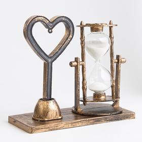 """Часы песочные """"Любовь"""", 15.5х6.5х16 см, с подсветкой,  микс в Донецке"""