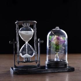 """Часы песочные """"Роза"""",  с подсветкой, 15х9х14 см   микс в Донецке"""