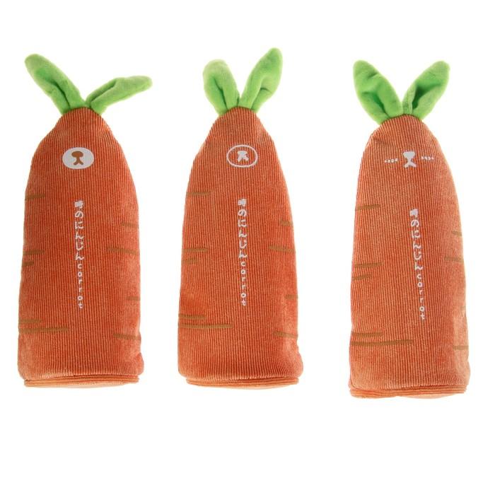 Пенал школьный «Морковь», на молнии, МИКС - фото 798174222