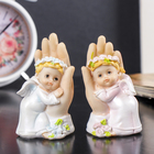 "Souvenir Polyresin ""angel in pink wreath and delicate dress from the palm of your hand"" MIX 9х5х4,2 cm"