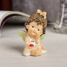 "Souvenir Polyresin ""Angel with curls in the apron with ladybug"" 8,7х5х3,5 cm"