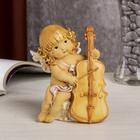 "Сувенир полистоун ""Ангелочек с локонами играет на скрипке"" 12,3х9,5х6,5 см"