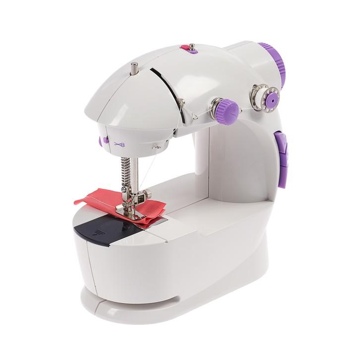 Швейная машинка LuazOn LSH-03, 2 скорости, подсветка, педаль, белая