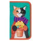 Пенал 1 секция «Кот сладкоежка», для девочки,115 х 205, ламинированный картон «Канцбург» 30П26