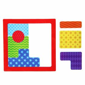 Развивающий пазл в рамке для ванны «Тетрис. Геометрия», из EVA, 8 деталей