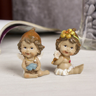 "Souvenir Polyresin ""Angel-baby with a toy"" MIX 6x3,5x3 cm"