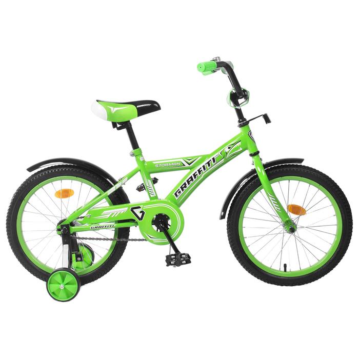 """Велосипед 18"""" Graffiti Storman RUS 2019, цвет зелёный"""