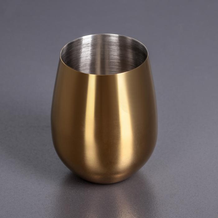 Стакан 550 мл, цвет золотой WL-552223 / A 48 - фото 308063580