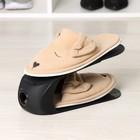 Подставка для хранения обуви, 28×10×14 см, цвет чёрный - фото 4643553