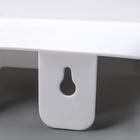 Держатель для туалетной бумаги с полочкой, цвет белый - фото 4648945