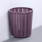 "Подставка ""Вязание"" круглая, цвет  пурпурный"