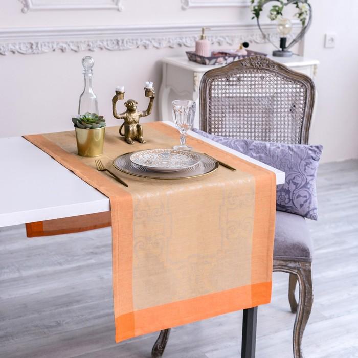Дорожка на стол Этель Лён «Жизель» 50×150 ± 3 см, 100% лён