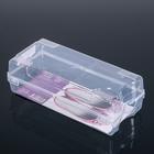 Коробка для хранения обуви 32×14.2×10.5 см, цвет прозрачный