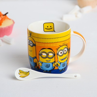 "Mug set with spoon ""MINIONS"" Despicable me, 350 ml"