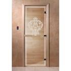 Дверь «Версаче», размер коробки 190 × 70 см, правая, цвет прозрачный
