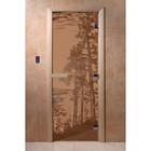 Дверь «Рассвет», размер коробки 200 × 80 см, правая, цвет матовая бронза