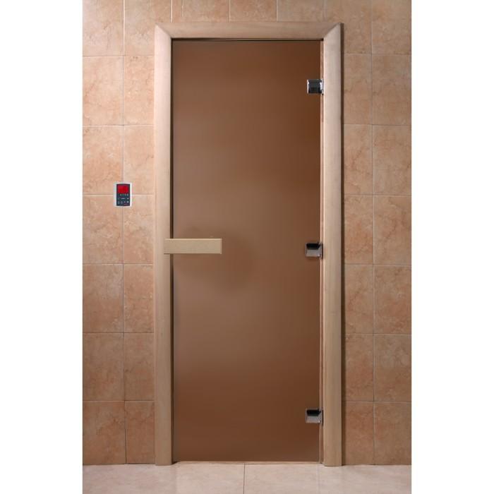 Дверь «Бронза матовая», размер коробки 200 × 90 см, правая