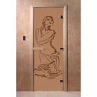 Дверь «Искушение», размер коробки 200 × 80 см, правая, цвет матовая бронза