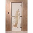 Дверь «Рим», размер коробки 190 × 70 см, правая, цвет сатин