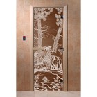 Дверь «Мишки», размер коробки 200 × 80 см, правая, цвет бронза