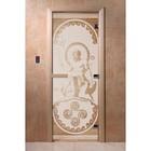 Дверь «Посейдон», размер коробки 190 × 70 см, правая, цвет сатин