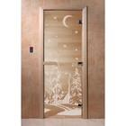 Дверь «Зима», размер коробки 190 × 70 см, правая, цвет прозрачный