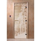 Дверь «Рассвет», размер коробки 190 × 70 см, правая, цвет прозрачный