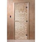 Дверь «Флоренция», размер коробки 190 × 70 см, левая, цвет сатин