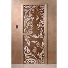 Дверь «Венеция», размер коробки 200 × 80 см, левая, цвет бронза