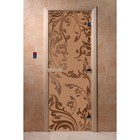 Дверь «Венеция», размер коробки 200 × 80 см, левая, цвет матовая бронза
