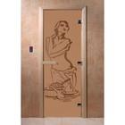 Дверь «Искушение», размер коробки 190 × 70 см, левая, цвет матовая бронза