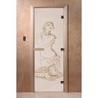 Дверь «Искушение», размер коробки 190 × 70 см, левая, цвет сатин