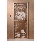 Дверь «Лебединое озеро», размер коробки 190 × 70 см, правая, цвет бронза