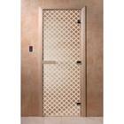 Дверь «Мираж», размер коробки 200 × 80 см, правая, цвет прозрачный