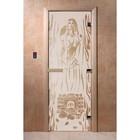 Дверь «Горячий пар», размер коробки 200 × 80 см, левая, цвет сатин