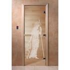Дверь «Рим», размер коробки 190 × 70 см, левая, цвет прозрачный