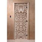 Дверь «Флоренция», размер коробки 200 × 80 см, левая, цвет бронза