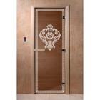 Дверь «Версаче», размер коробки 200 × 80 см, левая, цвет бронза
