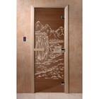 Дверь «Китай», размер коробки 190 × 70 см, левая, цвет бронза