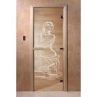 Дверь «Искушение», размер коробки 190 × 70 см, левая, цвет прозрачный